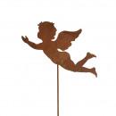 bouchon ange en métal, voler, hauteur 120cm, Stabl